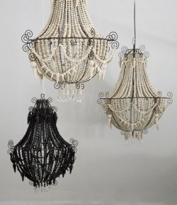 Mud Beaded Chandelier