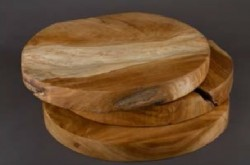 Teak Wood Round Boards - Thick