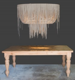 Urchin Leather Chandelier - Oval