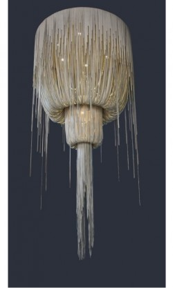 Urchin Leather Chandelier - Double Ball