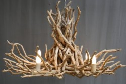 Twig Chandelier - Single Tier